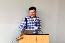 Dr. Harry Liu, Alibaba, begins his talk on 'Traffic Engineering with Forward Fault Correction' at the Workshop on Foundations of Routing in Ithaca, NY on June 19-20, 2019